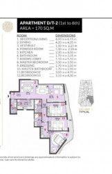 .شقة بمساحة 170 متر في كمبوند روزس العاصمة الادارية