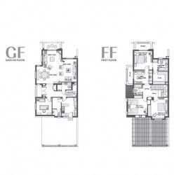 Twin house with area of 321 meters in Uptown Cairo by Emaar