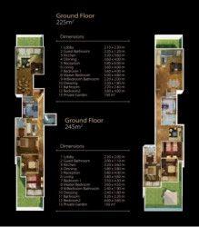 Plan of apartment 245 meters in Midtown