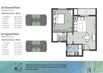 شقة مساحة 80 متر في كمبوند الموندو العاصمة الجديدة