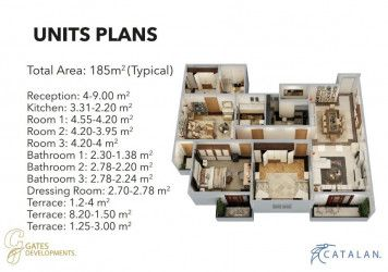 Master Plan for Apartments in Catalan compound new administrative capital.