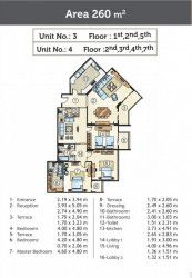 Apartment Plan of 260 m in Golden Yard from Marseilia
