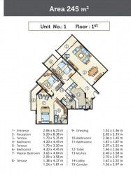 Apartment On The First Floor With An Area of 245 m² in Golden Yard