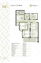 مخطط شقة 147 متر في ذا أدريس إيست