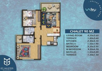Design of chalets in Valley Red Sea Resort