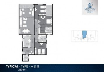 Units in Midtown Condo compound with an area starting from 260 m²
