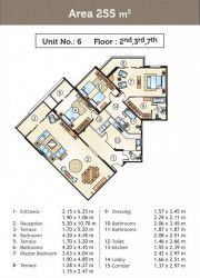 Apartments in Golden Yard compound Starting From 255 m²