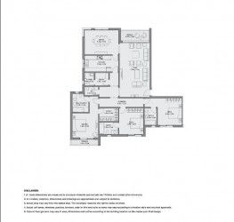 Apartment plan of 223 meters in AEON Towers