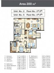 Units With An Area of 200 m² for sale in Golden Yard Compound