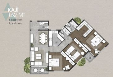 Apartments with an area of 162 m² in  Anakaji New Capital.