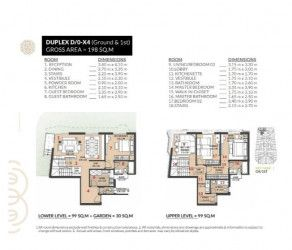Duplex with Area 198 m² in Roses Compound.