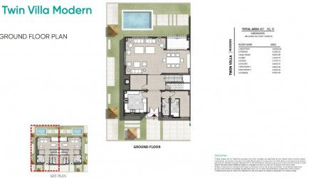 Master Plan for Twin House 467 m² in Zahya.