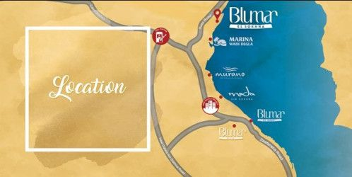 Location of Blumar El Sokhna Resort