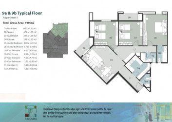 .شقة مساحة 190 متر في كمبوند الموندو