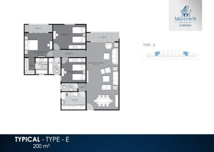 200 m² Apartment Plan in Midtown Condo by Better Home