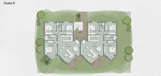 Chalet plan in the resort of Monte Galala