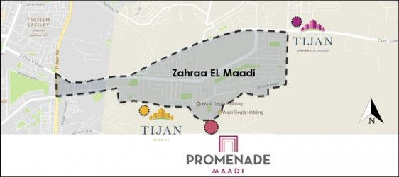 Location of Promenade Maadi compound