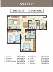 95 m² Apartments For Sale in Gold Yard compound