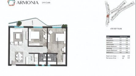Apartment Area 130 to 186 m² in Armonia