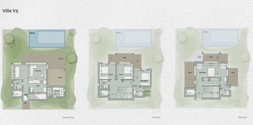 Layout of a 280m villa in IL Monte Galala resort