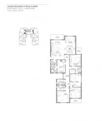 Apartment with garden plan 233 m in compound Hyde Park.