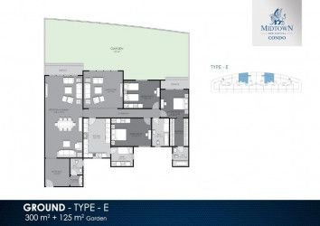 300 m² Apartment Plan in Midtown Condo Compound