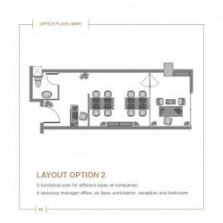 Office layout in Solas Mall