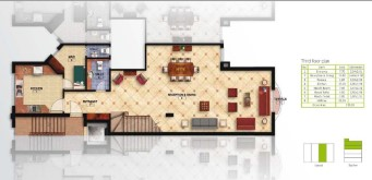 Floor Plan For a Villa of 300 m² in Mountain View Hyde Park New Cairo