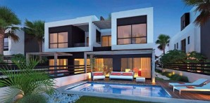 Twin house in Palm Hills compound with an area of 265 meters