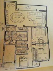 .مخطط شقة بمساحة 220 متر في كمبوند لاميرادا التجمع الخامس