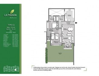 Apartment with area of 130 m² in La Mirada Compound