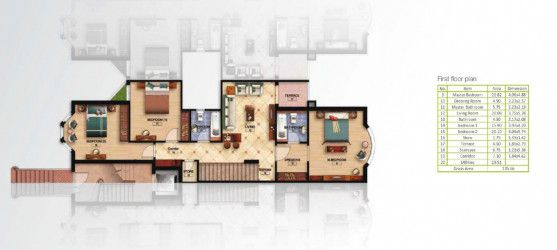 Scheme Of 1st Floor villa of 278 m² in Mountain View Hyde Park