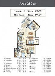Apartment 250 m² in Golden Yard New Administrative Capital