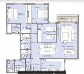 شقة في كمبوند هاب تاون
