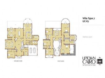 Scheme of a Villa With An Area of 1320 m² in Uptown Cairo