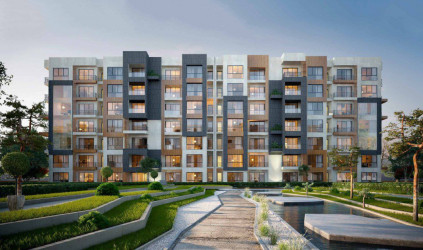 Apartments and Green Spaces In Aria Al Mostakbal Compound
