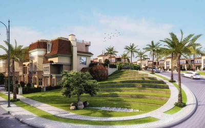 Villa with garden in Jewar Compound