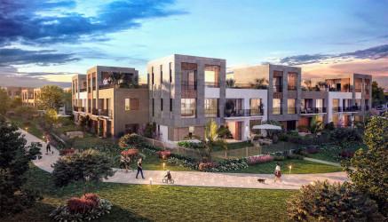 وحدات سكنية وحدائق خاصه بكمبوند ديستريكت 5